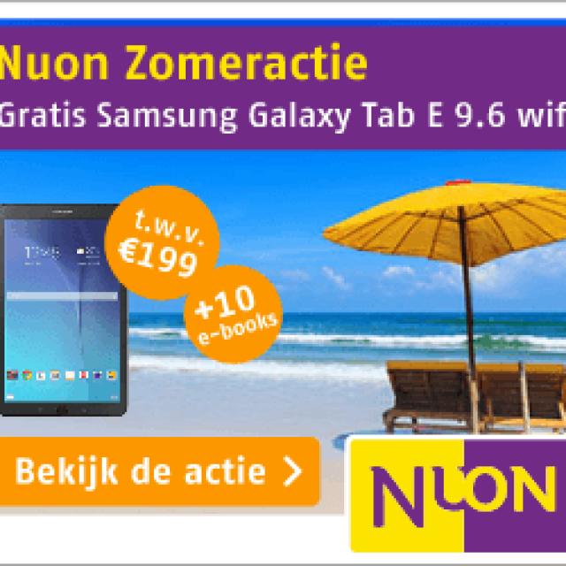 Gratis Samsung tablet bij Nuon 1 jaar + gratis e-books